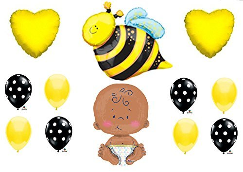 "What Will It BEE Baby Shower Gender Reveal Party 24"" CELEBRATE BABY Balloons Decorations Supplies"