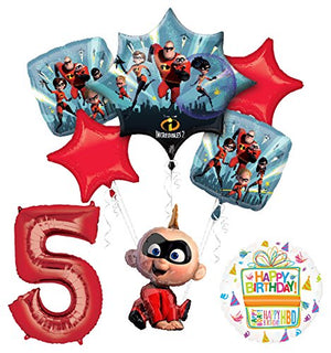 Mayflower Products Incredibles Jack Jack party supplies 5th Birthday Balloon Bouquet Decorations