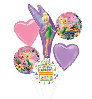Tinkerbell Birthday Party Supplies and Pixie Dust Balloon Bouquet Decorations