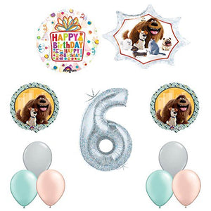 The Secret Life of Pets 6th Holographic Birthday Party Balloon Supply Decorations