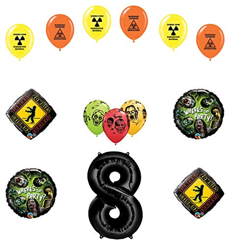 Mayflower Products Zombies 8th Birthday Party Supplies Walking Dead Balloon Bouquet Decorations