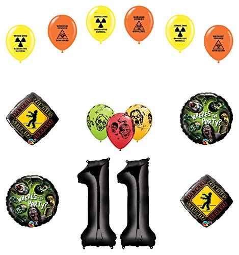 Mayflower Products Zombies 11th Birthday Party Supplies Walking Dead Balloon Bouquet Decorations