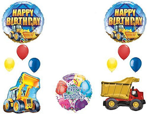 The Ultimate Construction Birthday Party Supplies and Balloon Decorations