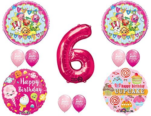 SHOPKINS 6th BIRTHDAY PARTY Balloons Decorations Supplies kit