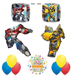Transformers 11pc Birthday Party Decorations Mylar Balloon Bouquet Set