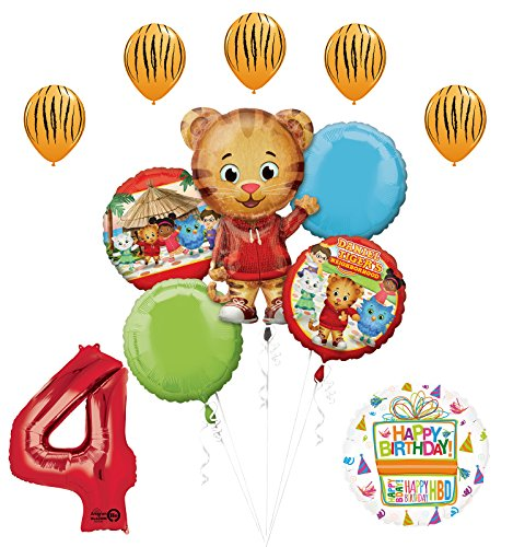 The Ultimate Daniel Tiger Neighborhood 4th Birthday Party Supplies and Balloon Decorations