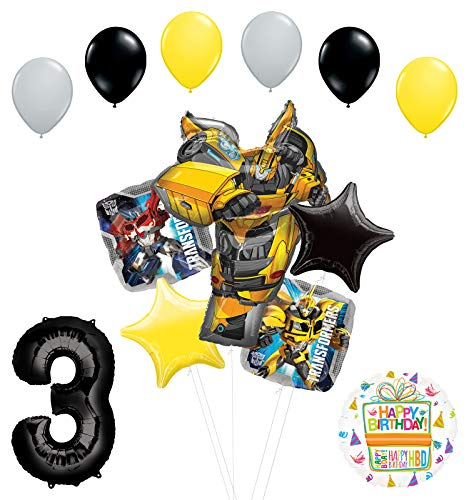 Transformers Mayflower Products Bumblebee 3rd Birthday Party Supplies Balloon Bouquet Decorations
