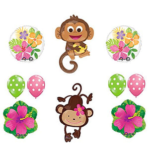 Mod Monkey Party Supplies Birthday or Gender Reveal Monkey Love Balloon Bouquet Decorations
