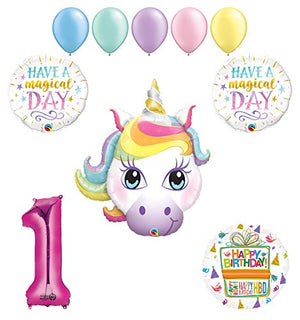 Magical Unicorn 1st Birthday Party Supplies and Balloon Decorations