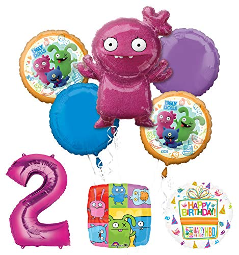 Mayflower Products Ugly Dolls 2nd Birthday Party Supplies Balloon Bouquet Decorations