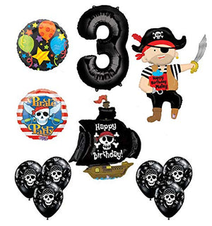 Mayflower Products Pirate 3rd Birthday Party Supplies Balloon Bouquet Decorations