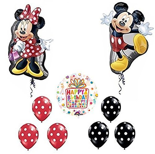 Mickey and Minnie Mouse Full Body Birthday Supershape Balloon Set