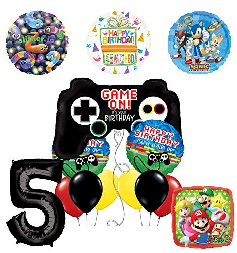 Mayflower Products Video Gamers 5th Birthday Party Supplies Balloon Decorations