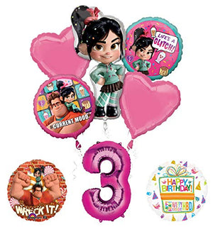 Wreck It Ralph 3rd Birthday Party Supplies Balloon Bouquet Decorations