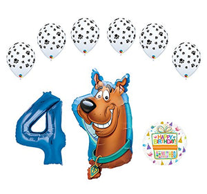 Mayflower Products Scooby Doo 4th Birthday Party Supplies Balloon Bouquet Decorations