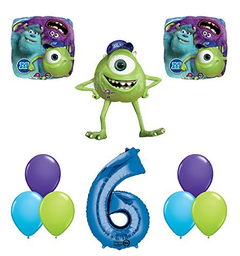 The Ultimate Monsters University Monsters Inc 6th Birthday Party Supplies and Balloon Decorations