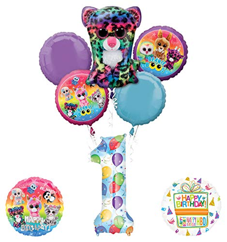 Mayflower Products Beanie Boos 1st Birthday Party Supplies Balloon Bouquet Decoration