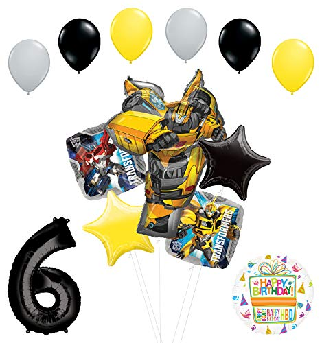 Transformers Mayflower Products Bumblebee 6th Birthday Party Supplies Balloon Bouquet Decorations