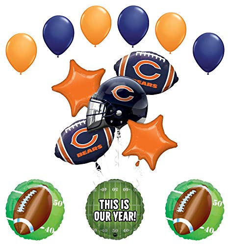 Mayflower Products Chicago Bears Football Party Supplies This is Our Year Balloon Bouquet Decoration