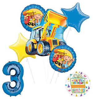 Mayflower Products Bob The Builder Construction Party Supplies 3rd Birthday Balloon Bouquet Decorations