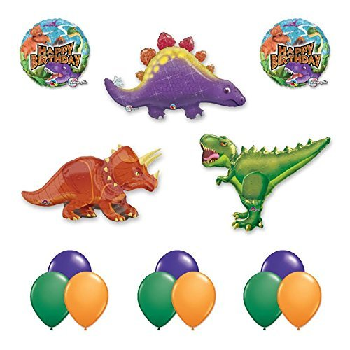 The Ultimate 14 pc Giant Dinosaur Birthday Balloon Kit