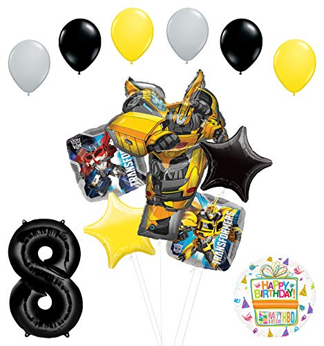 Transformers Mayflower Products Bumblebee 8th Birthday Party Supplies Balloon Bouquet Decorations