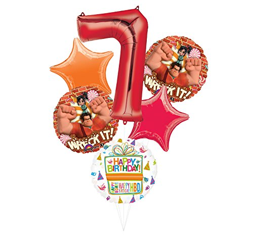 Wreck It Ralph Party Supplies 7th Birthday Balloon Bouquet Decorations