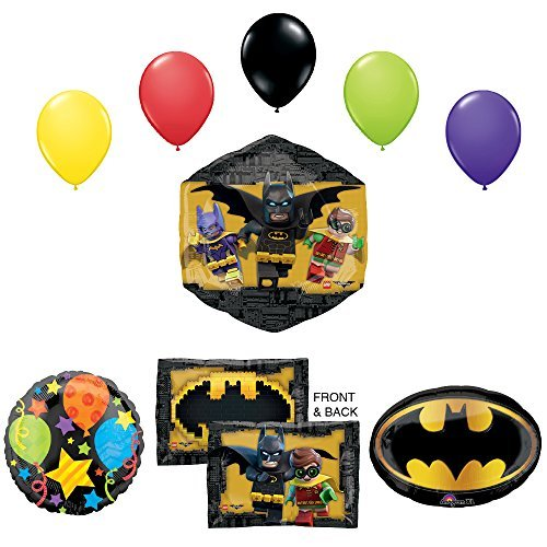 The Lego Batman Movie Birthday Party Supplies and Balloon Decorations