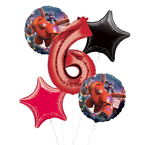 Mayflower Products Big Hero 6 Party Supplies 6th Birthday Balloon Bouquet Decorations