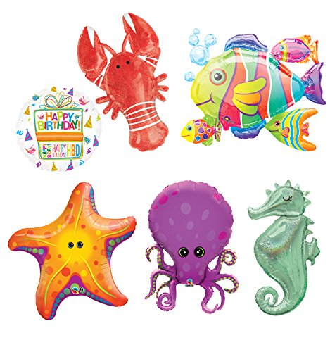 Under The Sea Animal Party Supplies and Birthday Balloon Bouquet Decorations