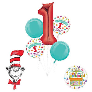 "Dr Seuss ""I Survived My Parents First Year"" 1st Birthday Party Supplies and Balloon Decorations"