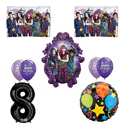 Disney The Descendants 2 Happy 8th Birthday Party supplies Balloon Decoration Kit