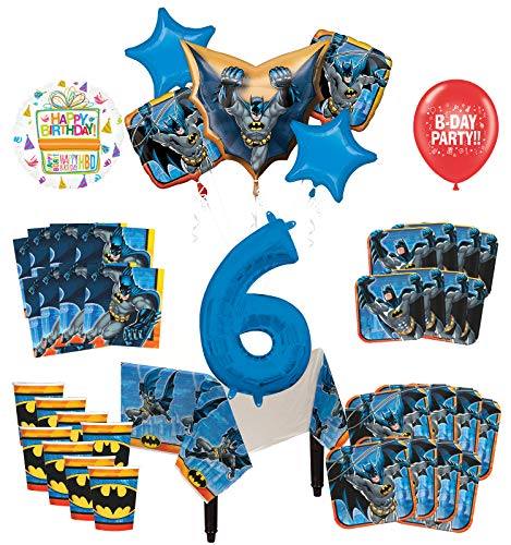 Mayflower Products Batman 6th Birthday Party Supplies and 8 Guest Balloon Decoration Kit