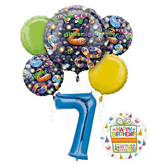 Slither.io Party Supplies 7th Birthday Video Game Balloon Bouquet Decorations