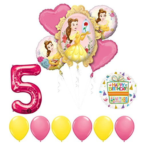 Beauty and The Beast 5th Birthday Party Balloon supplies decorations
