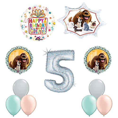 The Secret Life of Pets 5th Holographic Birthday Party Balloon Supply Decorations