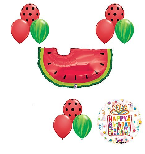 Watermelon Picnic First Birthday Party Supplies and Balloons Decoration