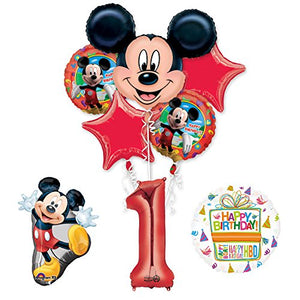 The Ultimate Mickey Mouse 1st Birthday Party Supplies and Balloon Decorations