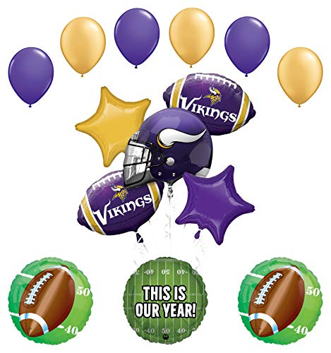 Mayflower Products Minnesota Vikings Football Party Supplies This is Our Year Balloon Bouquet Decoration
