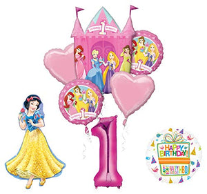 Mayflower Products Princess 1st Birthday Party Supplies Snow White Balloon Bouquet Decorations