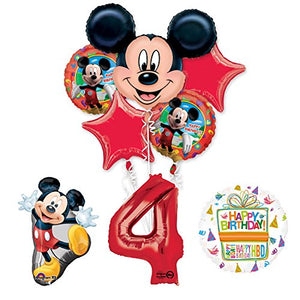 The Ultimate Mickey Mouse 4th Birthday Party Supplies and Balloon Decorations