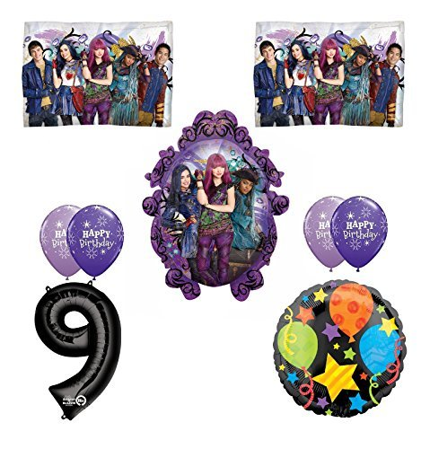 Disney The Descendants 2 Happy 9th Birthday Party supplies Balloon Decoration Kit