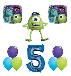 The Ultimate Monsters University Monsters Inc 5th Birthday Party Supplies and Balloon Decorations