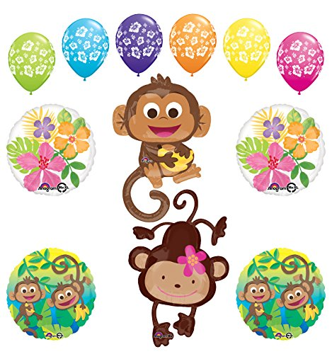 Mod Monkey Party Supplies Birthday or Gender Reveal Monkey Love Jungle Balloon Bouquet Decorations
