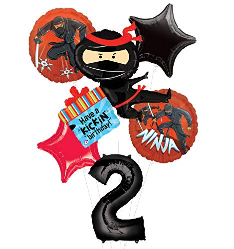 Mayflower Products Ninja Birthday Party Supplies Have A Happy Kickin 2nd Birthday Balloon Bouquet Decorations