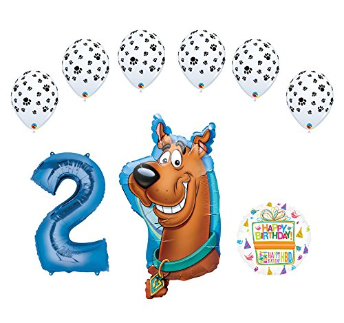 Mayflower Products Scooby Doo 2nd Birthday Party Supplies Balloon Bouquet Decorations