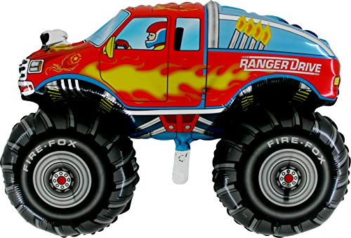 "28"" Monster Truck Ranger Drive Foil Balloons/Package of 5"