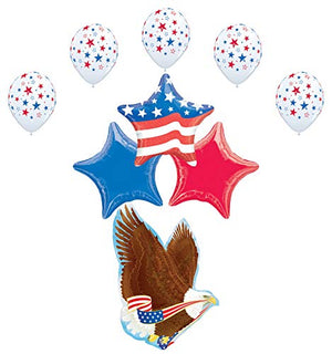 Mayflower Products Patriotic Party Supplies America 4th of July Eagle Stars and Stripes Balloon Bouquet Decorations