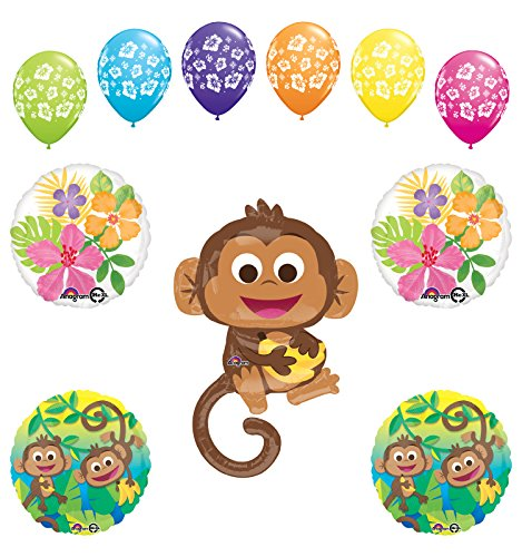 Mod Monkey Party Supplies Birthday or Baby Shower Boy Monkey Love Jungle Balloon Bouquet Decorations