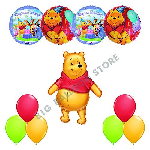 Winnie The Pooh BABY'S FIRST BIRTHDAY Party 11pc Balloons Decorations